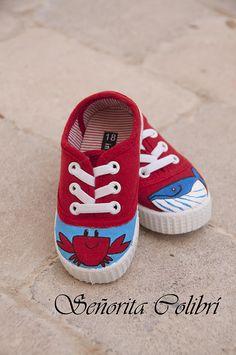 Zapatillas personalizadas pintadas a mano || Señorita Colibrí