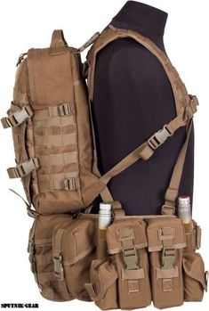 One of the most essential things in your bug out bag is your bag itself. You're going to be carrying a lot of materials, likely over fars away. Tactical Vest, Tactical Clothing, Tactical Equipment, Military Equipment, Airsoft Gear, Tac Gear, Combat Gear, Chest Rig, Military Guns