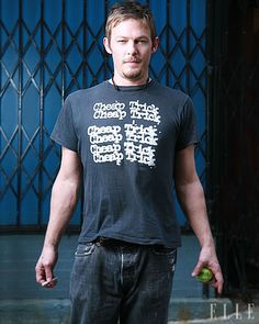 Norman Reedus (and what seems to be a fav shirt)