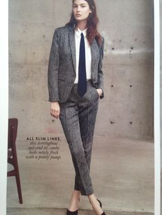Blazer and trouser: Vince Camuto HERRINGBONE #fallcolors #makeupismylover