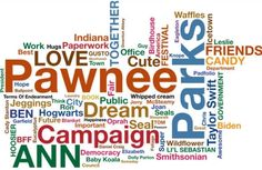 Parks and Recreation - Leslie Knope's Word Cloud
