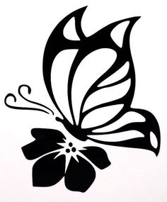 Butterfly Flower Sexy Girly Car Truck Window Vinyl Decal Sticker 10 Colors #TheStickerEmporium