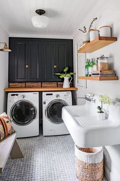 Basement laundry room smells like rotten eggs, laundry room ideas in the kitchen, small laundry room design plans # laundry .Basement laundry room smells like rotten eggs, laundry room ideas in the kitchen, small . Laundry Room Layouts, Small Laundry Rooms, Laundry Room Design, Basement Laundry Rooms, Laundry Room With Sink, Compact Laundry, Laundry Rack, Laundry Decor, Small Bathrooms