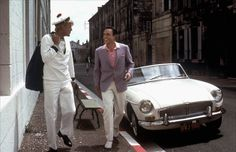 Jacques Perrin and Gene Kelly in Les Demoiselles de Rochefort (dir. Jacques Demy, 1967).