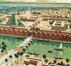 Ancient Mesopotamia Babylon City,Euphrates,tigris,Ishtar gate ...