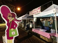 QSA's Flat Gloria visited the Jambalaya Cook-Off at the Susan G. Komen for the Cure® Acadiana Race for the Cure in Lafayette, LA! These folks started at 3:30 am!