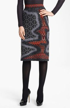 Missoni Knit Pencil Skirt available at #Nordstrom