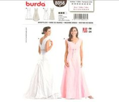 Amazon.com: Burda 8056 Pattern, Womens/Misses' Fitted Wedding Dress, Bridesmaid Pattern Size 10 to 24 (Euro 36 to 50) Plus Sizes: Arts, Crafts & Sewing