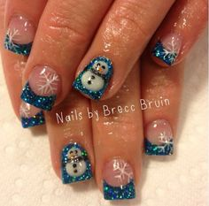 Christmas nail art design ideas | ideas de unas | holiday festive nail art | gel nails ideas