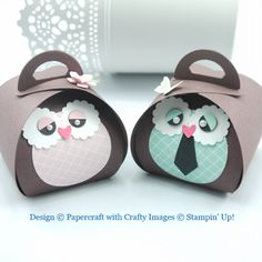 Mr and Mrs Owl Stampin' Up! Curvey Keepsake Die by Sizzix exclusive to Stampin' Up!