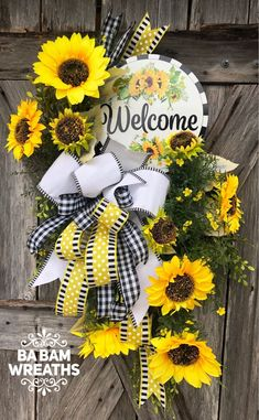 Your place to buy and sell all handmade things Wreath Crafts, Diy Wreath, Wreath Burlap, Wreath Ideas, Deco Mesh Wreaths, Holiday Wreaths, Autumn Wreaths, Spring Wreaths, Wreaths For Front Door