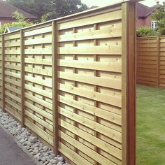 The latest customer project on our website features our Hit and Miss pa… - Modern Diy Backyard Fence, Diy Privacy Fence, Privacy Fence Designs, Patio Fence, Backyard Projects, Backyard Landscaping, Shadow Box Fence, Compound Wall Design, Fence Styles