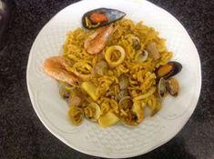 COCINA CON AMC Y MÁS: FIDEUÁ DE MARISCOS AMC Paella, Risotto, Macaroni And Cheese, Spaghetti, Meat, Chicken, Ethnic Recipes, Food, Youtube
