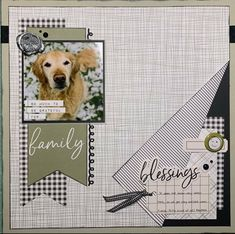 Dog Scrapbook Layouts, Baby Scrapbook Pages, Scrapbook Sketches, Scrapbooking Ideas, Kiwi, Cards, Animals, Animales, Animaux