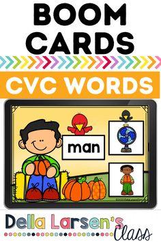 Literacy Stations, Literacy Skills, Literacy Centers, Kindergarten Readiness, Kindergarten Classroom, Interactive Learning, Fun Learning, Ccss Ela, Cvce Words
