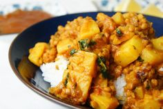 Indian red lentil and potato dhal recipe on Food52