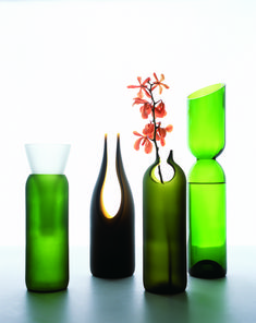 Transglass Cut Vase for Artecnica / designed by Emma Woffenden and Tord Boontje