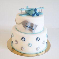 Birthday boy, airplane, babyboy, fondant cake