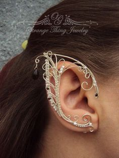 Pair of elf ear cuffs White frost by StrangeThingJewelry on Etsy