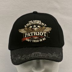 """2A Embroidered Ballcap - """"""""The Second Amendment Patriot- Don't Tread On Me"""""""""""