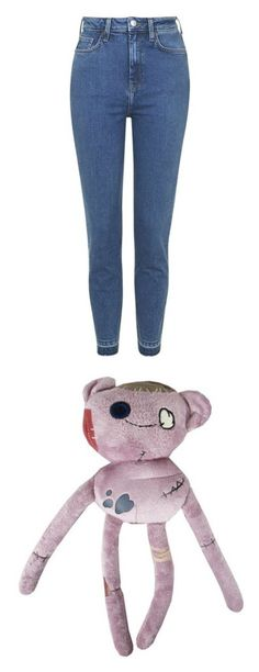 """""""Let's go in the garden You'll find something waiting Right there where you left it Lying upside down."""" by emily-of-the-wolves on Polyvore featuring jeans, pants, bottoms, trousers, calças, bright blue, bright blue jeans, slim jeans, raw hem jeans and bright blue skinny jeans"""