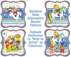 Rainbow Brite Birthday Banner