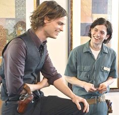 Matthew Gray Gubler and Jackson Rathbone