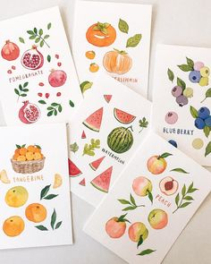 과일 시리즈 두번째🍑🍉🍊 #이랑그림 Watercolor Paintings For Beginners, Watercolour Tutorials, Watercolor Fruit, Watercolor Artwork, Fruit Illustration, Watercolor Illustration, Art Sketches, Art Drawings, Weird Drawings