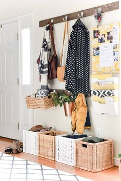 nice Step Inside The Creative, Handmade Home Of Aniko Levai Entryway Organization, Entryway Decor, Organized Entryway, Foyer, Entryway Ideas, Organized Mom, Organize Life, Rearranging Furniture, Gravity Home