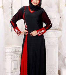 Buy Black Lycra abaya abaya online