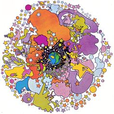 Image detail for -PETER MAX ILLUSTRATIONS