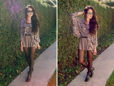 Forever 21 Shorts, Gifted Top, Fairfax Flea Market Sunglasses, Thrifted Boots