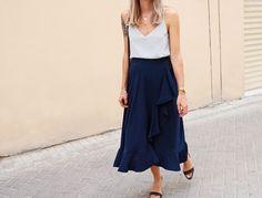 Tutorial for this Jill Stuart -inspired wrap skirt ft. ruffle hem on my blog! #sewinglife