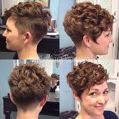 22 Curly Short Hairstyles You Will Absolutely Love - List of the best Women's Hairstyles Curly Hair With Bangs, Curly Hair Cuts, Long Curly Hair, Short Hair Cuts, Curly Hair Styles, Short Curls, Frizzy Hair, Popular Short Haircuts, Short Curly Haircuts