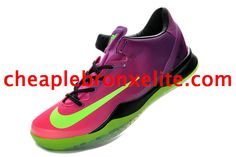 Kobe VIII System Shoes Mambacurial Red Plum Electric Green Pink Flash