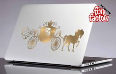 Princess Cinderella Carriage Disney Macbook Air Pro Decal Sticker 0132mac by FunDecalFactory on Etsy