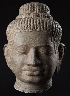 Elegant Khmer Head, Baphuon Style. This and more important Asian art for sale on CuratorsEye.com