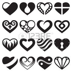#heart #icons and #signs #set #manicure #art #nails