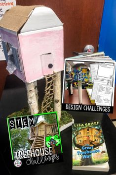 Treehouse STEM connects to the books The Great Treehouse War by Lisa Graff or The Magic Treehouse Series? The Treehouse STEM Challenge will give your students the opportunity to research treehouses and design their own model. Your students will love designing, creating, and engineering. Students will problem solve and think critically as they complete their challenges. Great for Makers Spaces, STEM Labs, or After School STEM Projects (third, fourth, fifth grade)