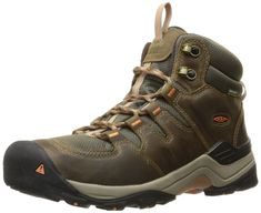 KEEN Women's Gypsum II Mid WP Boot, Corn Stock/Gold Coral, 7.5 M US. Waterproof nubuck and mesh upper repels h2o and debris. KEEN dry waterproof, breathable membrane. Removable, metatomical dual-density eva foot bed. KEEN zorb eva strobel for shock absorption. Heel support structure for stability.