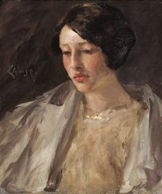 William Merritt Chase - Portrait of Esther M. Groome 1912