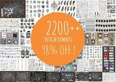 This looks amazing for the price!  98 % OFF 2200++ Design elements by Bimbim on @creativemarket