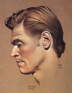 Willem Dafoe portrait by Bill Nelson, 1989 Bill Nelson, Willem Dafoe, Color Pencil Art, Famous Faces, Colored Pencils, Illustrators, Famous People, Portrait, Drawings