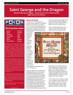 Saint George and the Dragon  Study Guide with Answer Key by PACES publishing  Faerie Queene. Spenser classical conversations, home school, home schooling, biblical worldview  this store has a lot of great study guides!