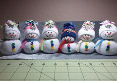 DIY~Adorable Dollar Store Toddler Sock Snowmen or Snow babies!