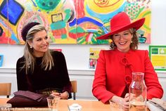 The royal duo were paying a visit to Rooms with Opportunities, part of a welfare organisation called Combiwel, in the Dutch capital before moving onto The Hague
