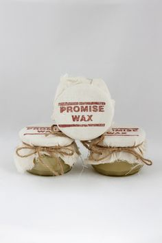Promise Wax impregnation for leather, canvas or wood. Love this smell.