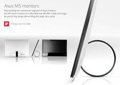 Asus MS monitors by Jonathan Vandamme, via Behance