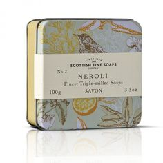 Scottish Fine Soaps Soap in a Tin, Neroli