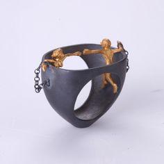 wonderful ring/sculpture. Prisoners of Love by SeldaOkutan on Etsy, $167.00